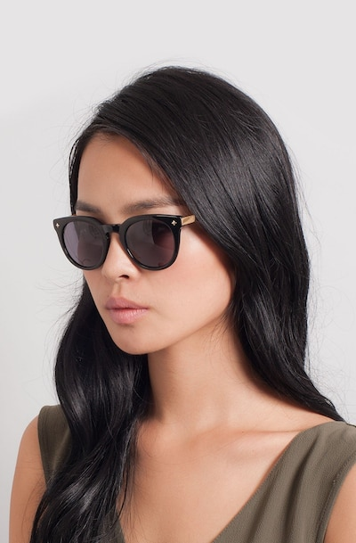 Zoe Black Plastic Sunglass Frames for Women from EyeBuyDirect