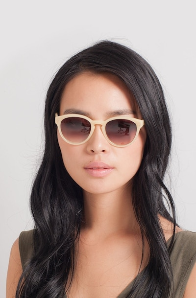Augustine Yellow Plastic Sunglass Frames for Women from EyeBuyDirect, Front View