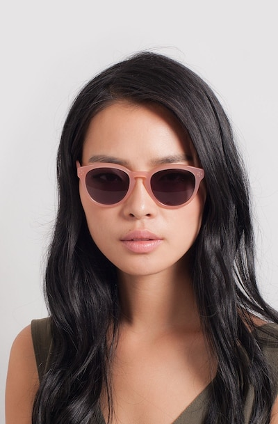 Augustine Pink Plastic Sunglass Frames for Women from EyeBuyDirect, Front View