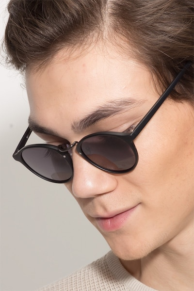 Millenium Matte Black Plastic Sunglass Frames for Men from EyeBuyDirect