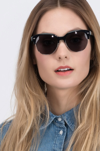 Carven Black Plastic Sunglass Frames for Women from EyeBuyDirect