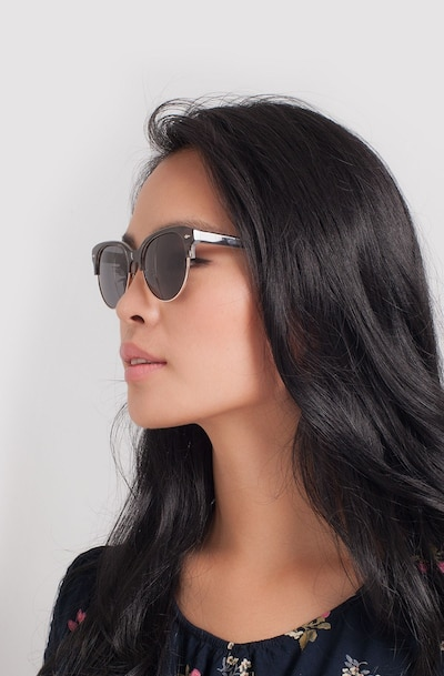 Carven Gray Plastic Sunglass Frames for Women from EyeBuyDirect