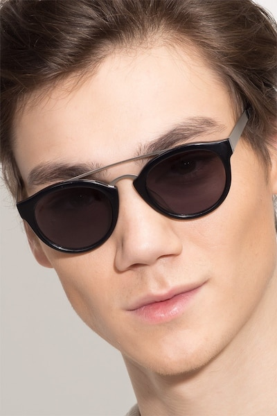 Enzo Black Acetate Sunglass Frames for Men from EyeBuyDirect