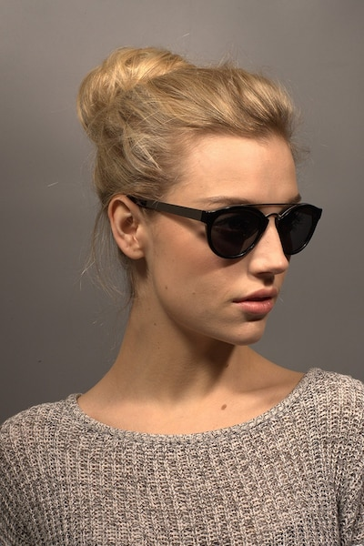 Enzo Black Acetate Sunglass Frames for Women from EyeBuyDirect