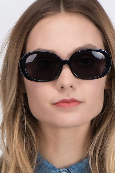 Lauren Noir Acétate Soleil de Lunettes pour Femmes d'EyeBuyDirect