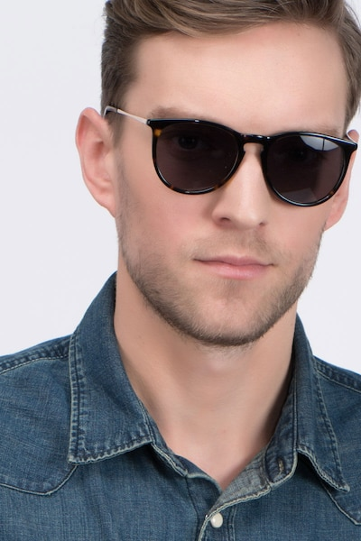 Interlude Tortoise Acetate Sunglass Frames for Men from EyeBuyDirect