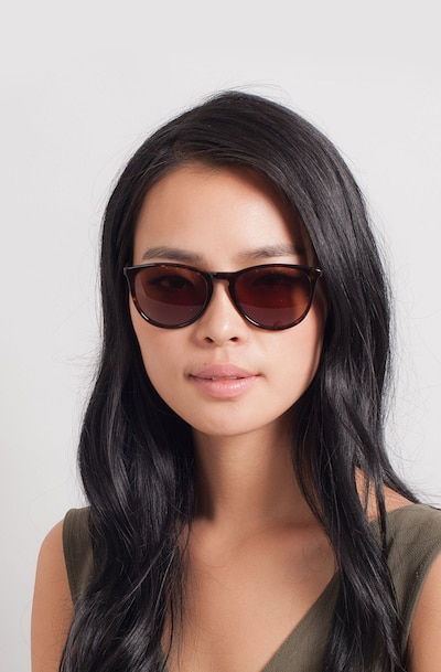 Interlude Tortoise Acetate Sunglass Frames for Women from EyeBuyDirect, Front View