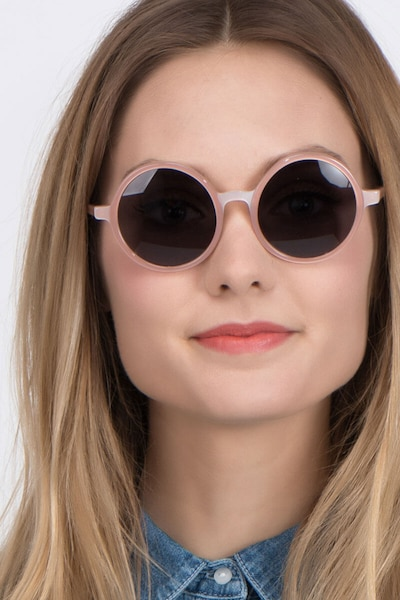 Alena Pink Acetate Sunglass Frames for Women from EyeBuyDirect