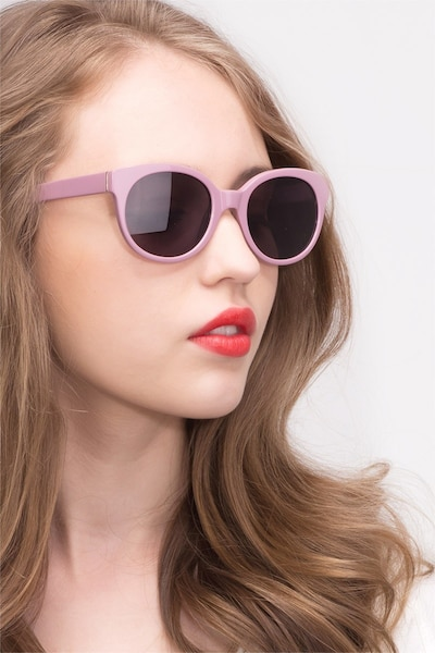 Matilda Purple Acetate Sunglass Frames for Women from EyeBuyDirect, Front View