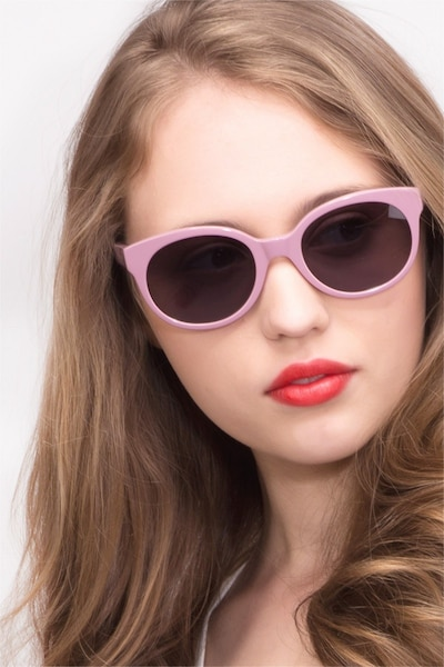 Matilda Purple Acetate Sunglass Frames for Women from EyeBuyDirect