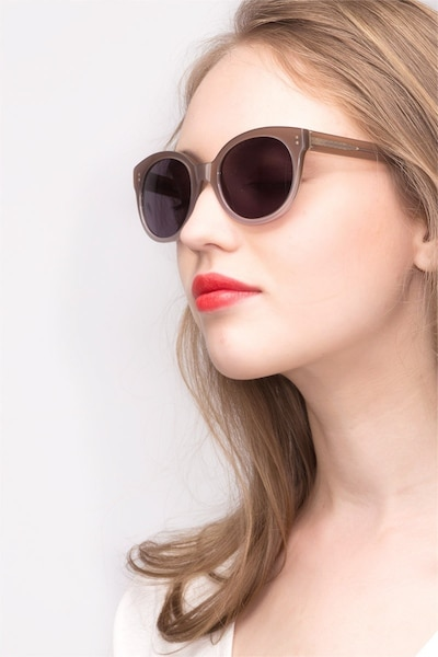 Matilda Brown Acetate Sunglass Frames for Women from EyeBuyDirect, Front View