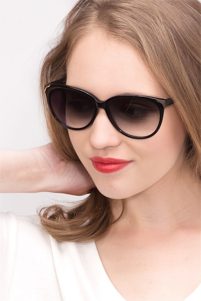 Lima Black Acetate Sunglass Frames for Women from EyeBuyDirect