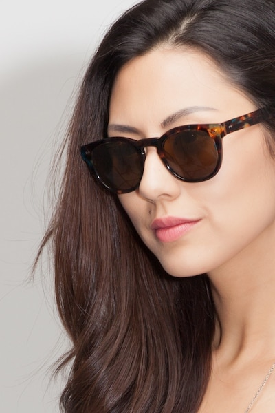 Horizon Nebular Blue Acetate Sunglass Frames for Women from EyeBuyDirect