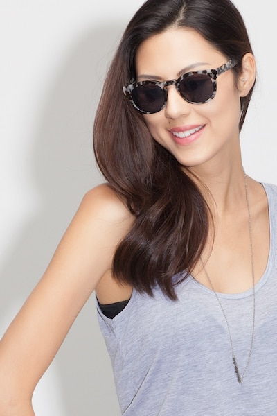 Horizon Marbled Tortoise Acetate Sunglass Frames for Women from EyeBuyDirect, Front View