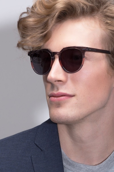 Shadow Granite & Rose Acetate Sunglass Frames for Men from EyeBuyDirect