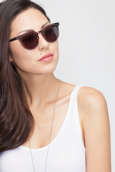 Shadow Granite & Rose Acetate Sunglass Frames for Women from EyeBuyDirect, Front View
