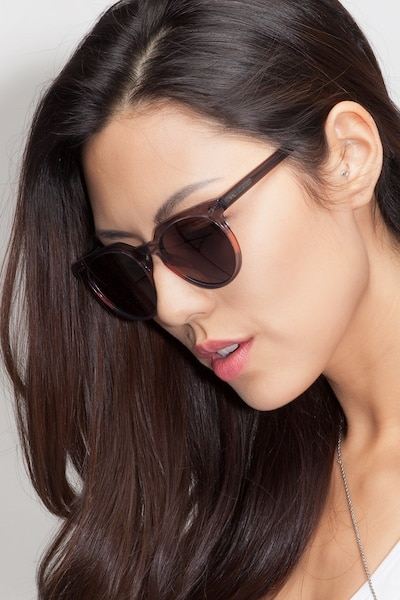 Shadow Granite & Rose Acetate Sunglass Frames for Women from EyeBuyDirect