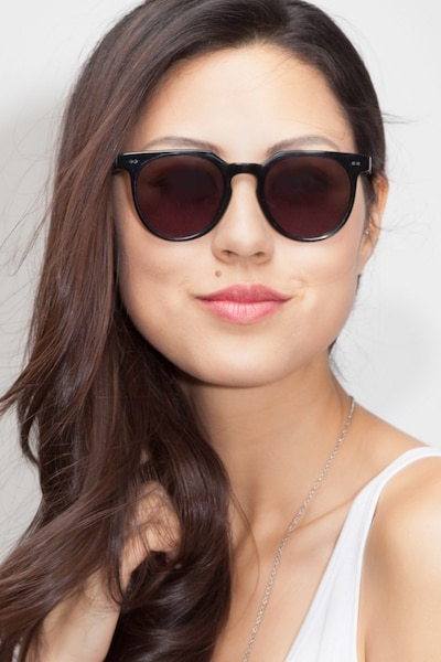 Shadow Jet Black Acetate Sunglass Frames for Women from EyeBuyDirect