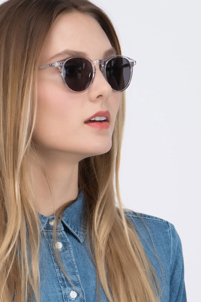 Sun Kyoto Clear Acetate Sunglass Frames for Women from EyeBuyDirect, Front View