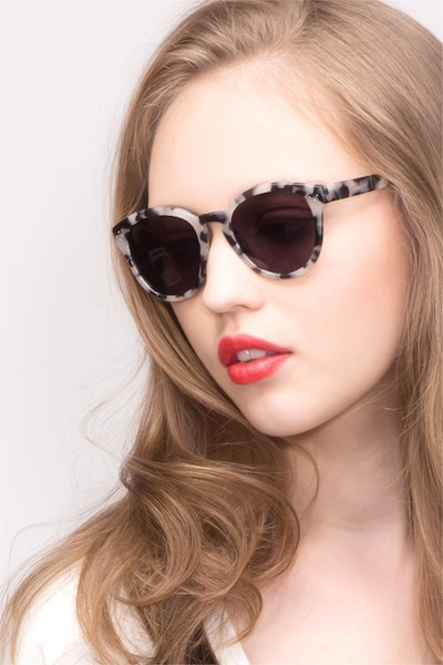 Augustine  Ivory Tortoise  Acetate Sunglass Frames for Women from EyeBuyDirect, Front View