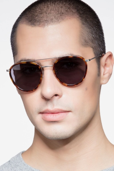 Brookline Tortoise Acetate Sunglass Frames for Men from EyeBuyDirect