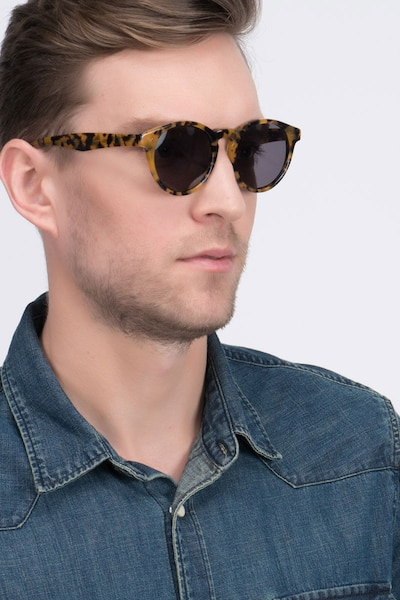 Havana Tortoise Acetate Sunglass Frames for Men from EyeBuyDirect, Front View