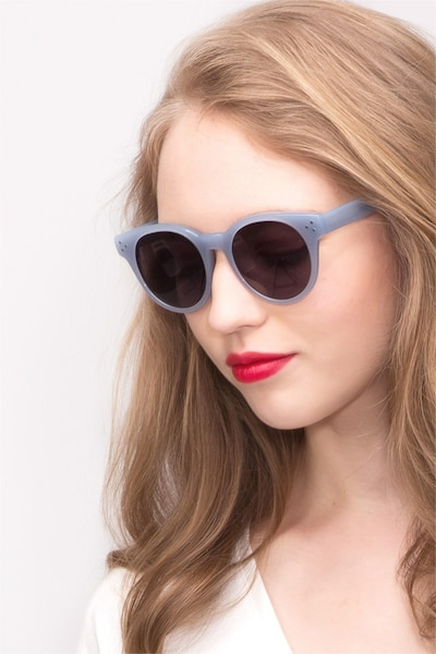 Minuit Blue Acetate Sunglass Frames for Women from EyeBuyDirect, Front View