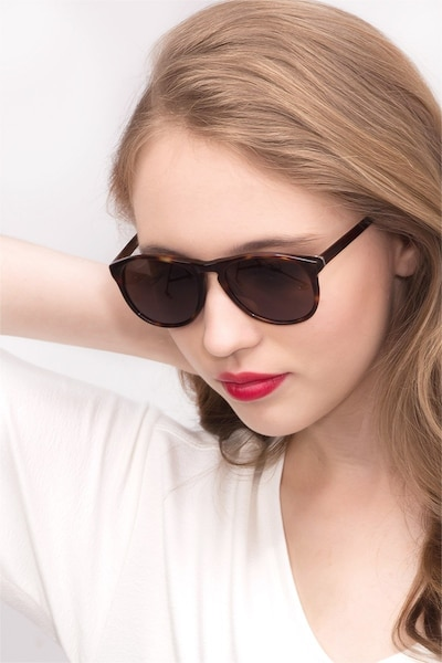 Silt Tortoise Acetate Sunglass Frames for Women from EyeBuyDirect, Front View