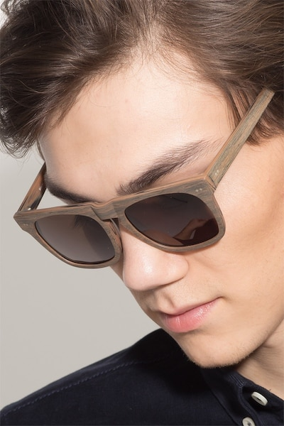 Miami Brown Wood-texture Sunglass Frames for Men from EyeBuyDirect