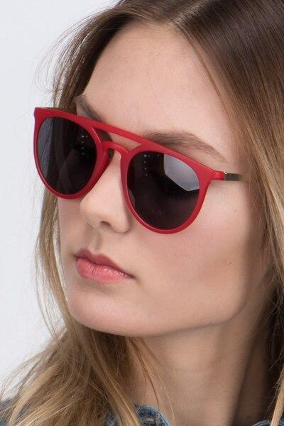 Benicia Scarlet Plastic Sunglass Frames for Women from EyeBuyDirect