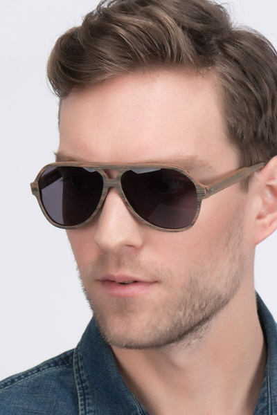 Americana Brown Acetate Sunglass Frames for Men from EyeBuyDirect