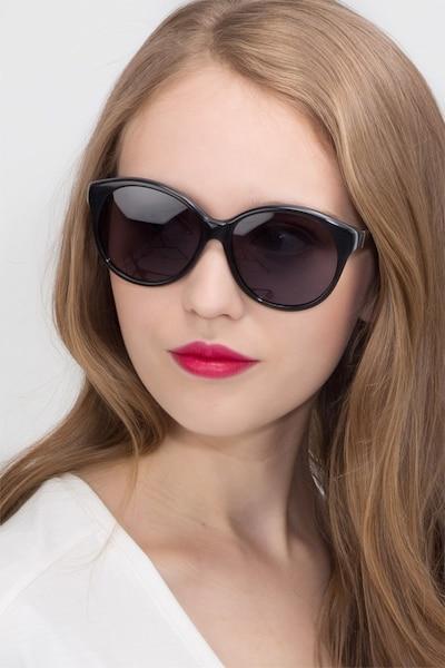 Stella Dark Gray Acétate Soleil de Lunette de vue pour Femmes d'EyeBuyDirect