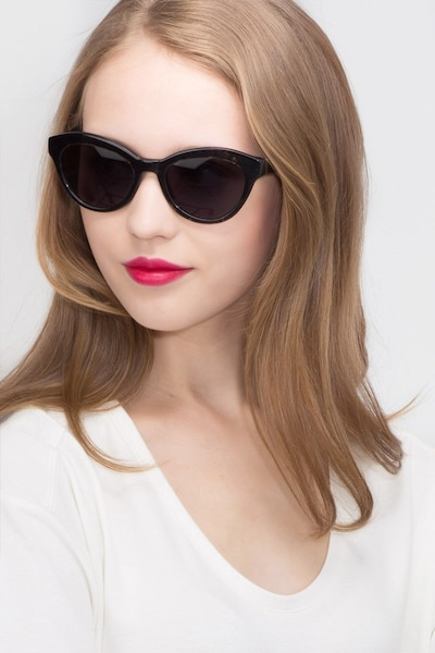 Velour Gray Acetate Sunglass Frames for Women from EyeBuyDirect, Front View