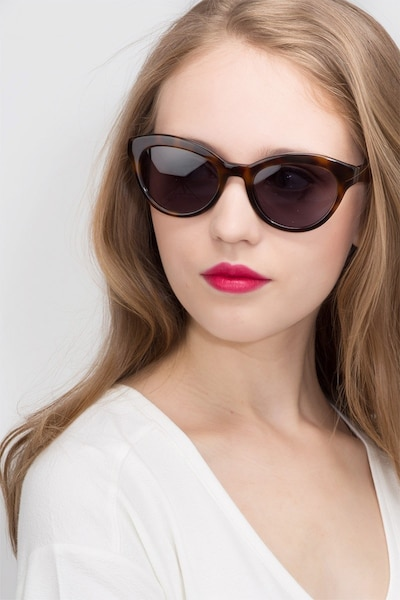 Velour Tortoise Acetate Sunglass Frames for Women from EyeBuyDirect, Front View
