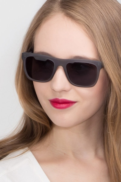 Virtual Matte Gray Acetate Sunglass Frames for Women from EyeBuyDirect