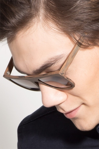 Virtual Brown Acetate Sunglass Frames for Men from EyeBuyDirect
