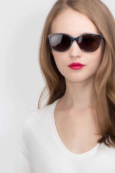 Calypso Floral Acetate Sunglass Frames for Women from EyeBuyDirect, Front View