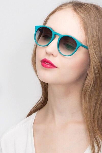 Air Matte Green Acétate Soleil de Lunettes pour Femmes d'EyeBuyDirect