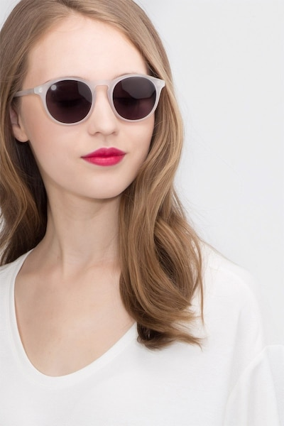 Air Matte Clear Acetate Sunglass Frames for Women from EyeBuyDirect, Front View