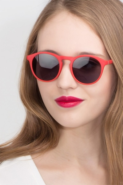 Air Matte Red Acetate Sunglass Frames for Women from EyeBuyDirect