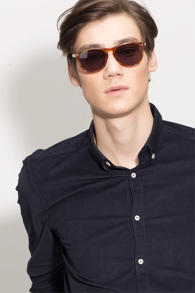 Deep End  Tortoise  Acetate Sunglass Frames for Men from EyeBuyDirect, Front View