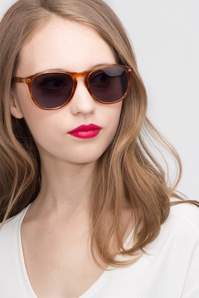 Deep End  Tortoise  Acetate Sunglass Frames for Women from EyeBuyDirect, Front View