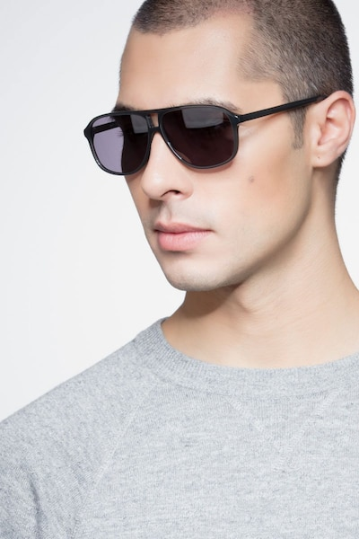 Bart Matte Gray Acetate Sunglass Frames for Men from EyeBuyDirect, Front View