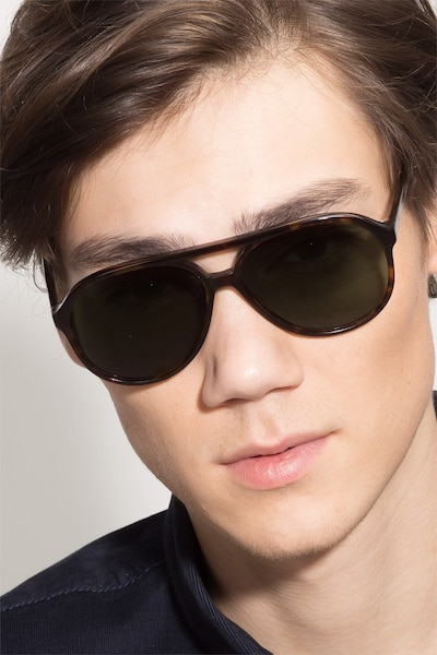 Jakarta Tortoise Acetate Sunglass Frames for Men from EyeBuyDirect