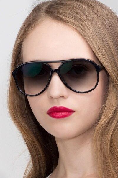Jakarta Black Acetate Sunglass Frames for Women from EyeBuyDirect