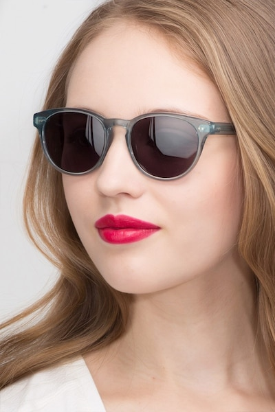 Till Dawn Clear Blue Acetate Sunglass Frames for Women from EyeBuyDirect