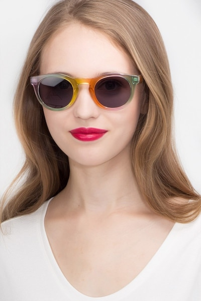 Sunset  Yellow  Plastic Sunglass Frames for Women from EyeBuyDirect, Front View