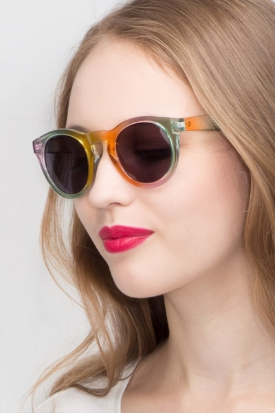 Sunset  Yellow  Plastic Sunglass Frames for Women from EyeBuyDirect