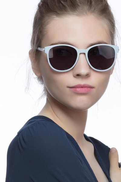 Terracotta Matte Gray Plastic-metal Sunglass Frames for Women from EyeBuyDirect, Front View