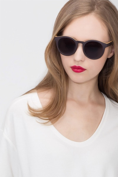 Oasis Matte Coffee Plastic Sunglass Frames for Women from EyeBuyDirect